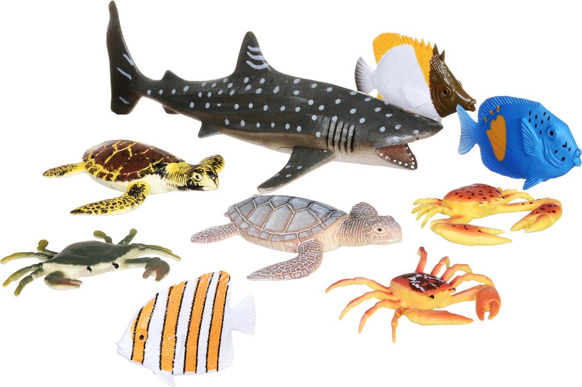 Wenno Набор фигурок Животные океана 9 шт россия природные зоны животные и растения карта