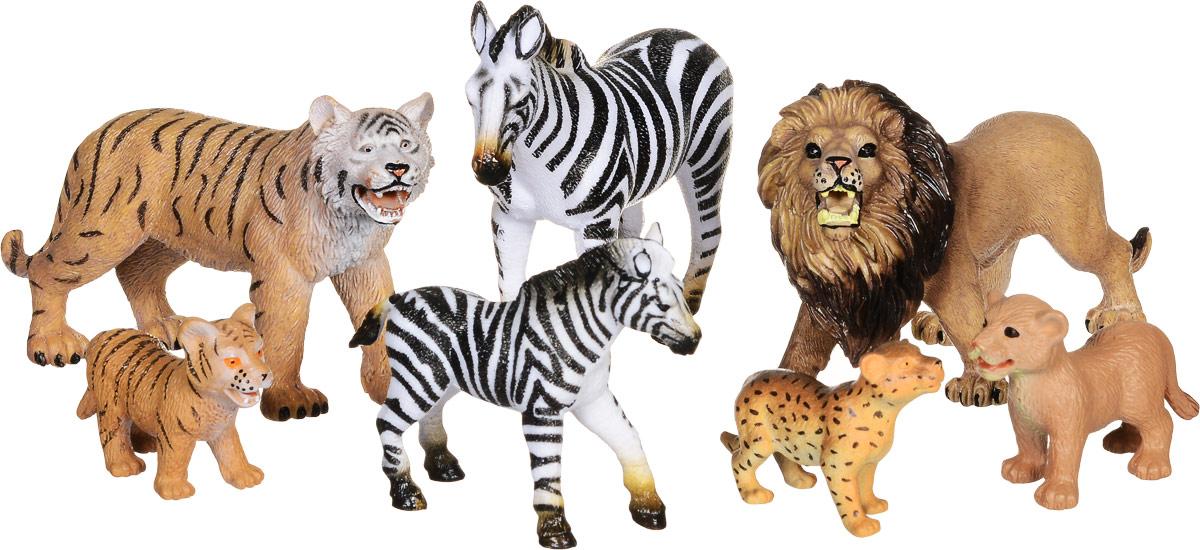 Wenno Набор фигурок Дикие животные 7 шт о кузнецова дикие животные
