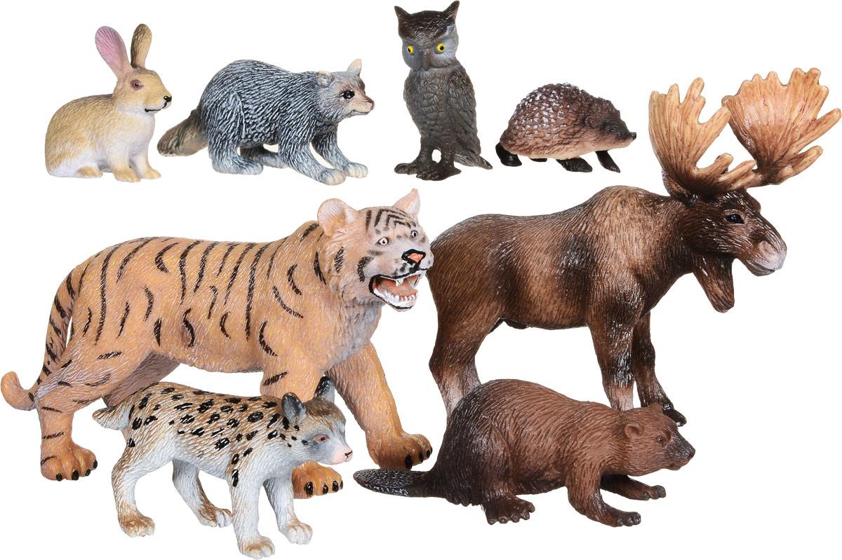 Wenno Набор фигурок Животные Евразии 8 шт россия природные зоны животные и растения карта
