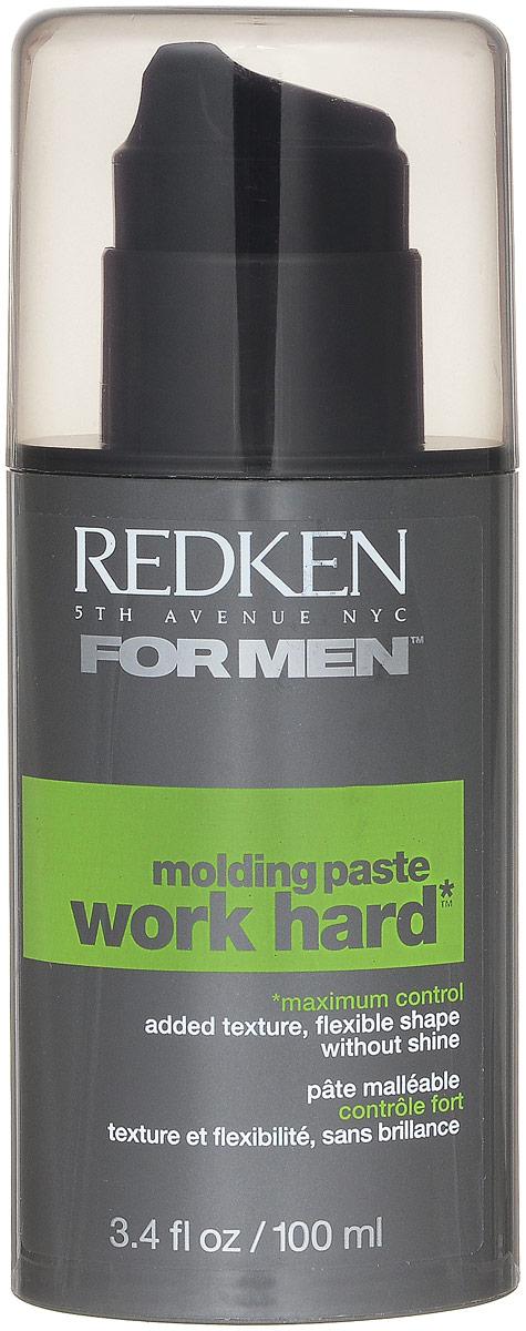 Redken For Men Work Hard Паста для сильной фиксации волос, 100 млP0756100Пластичная текстура позволяет вам создавать, конструировать и менять прическу. Этой гибкой пастой легко пользоваться и создавать любые формы, фиксируя их надолго.