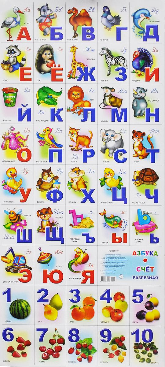 Алфея Обучающий плакат Азбука и счет 00001 марина богуславская азбука и счет плакат