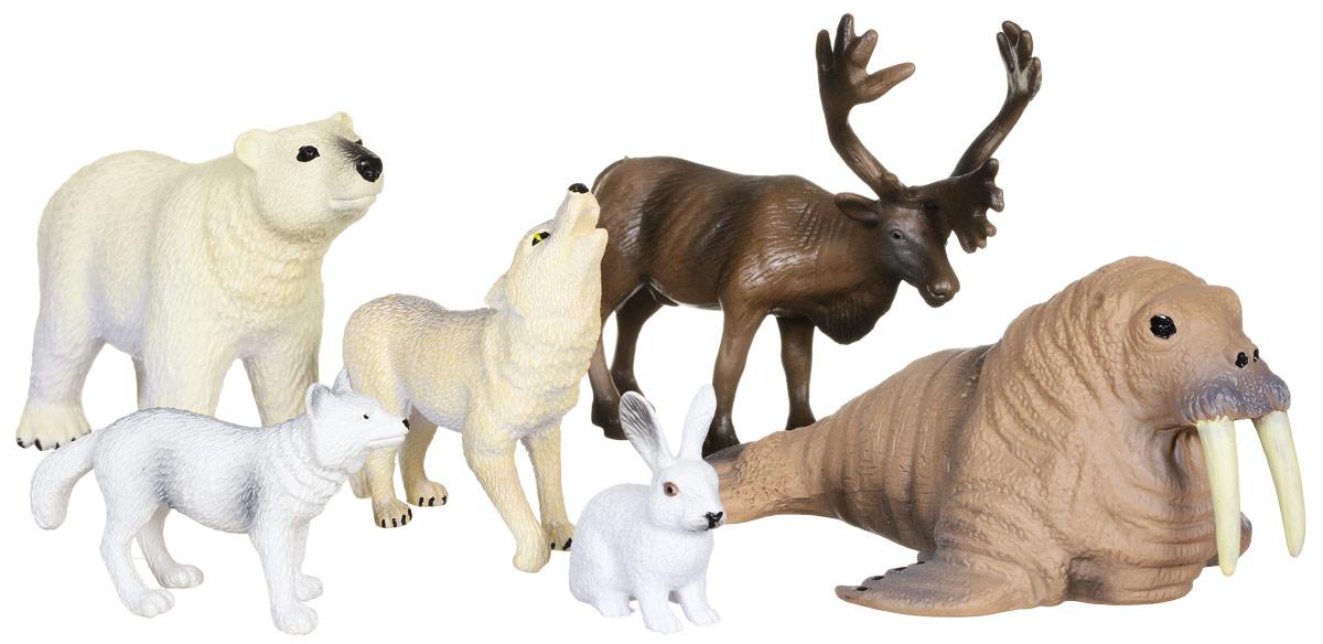 Wenno Набор фигурок Животные Арктики 6 шт россия природные зоны животные и растения карта