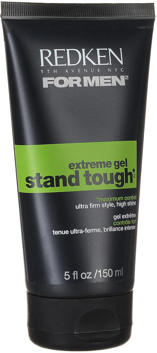 Redken For Men Stand Tough Extreme Гель супер сильной фиксации, 150 млP0754600Создает острые экстремальные формы и придает блеск. Stand Tough гель обладает всеми необходимыми свойствами, которые помогут не только придать прическе прочность, но и снабдят волосы необходимыми для них витаминами. При этом, он не вызовет никаких аллергических реакций.Ионные связи, на основе которых разработан данный продукт, придадут удивительную форму любой укладке, которая не утратит своего вида на протяжении многих часов. К одним из положительных качеств данного геля можно также отнести такое его свойство, как защита волос от вредного воздействия окружающей среды. А тот факт, что гель наносится на влажные волосы, делает его еще более щадящим средством для укладки волос, так как гели, наносимые на сухие волосы, изменяют структуру волос и делают их ломкими и сухими.