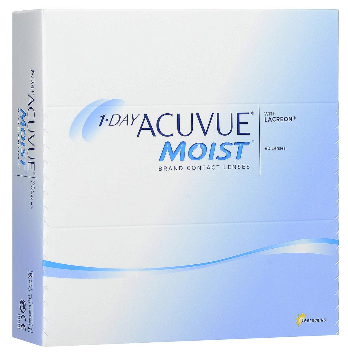 Johnson & Johnson контактные линзы Acuvue 1-DAY Acuvue Moist (90pk / 9.0 / - 6.50)