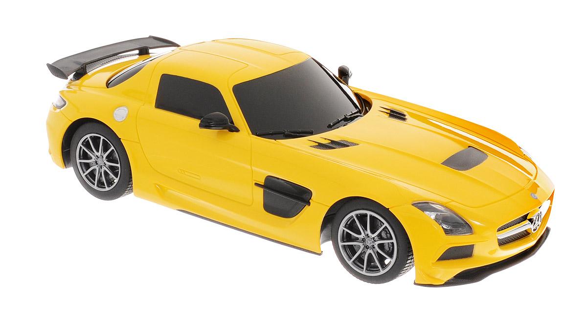 Rastar Радиоуправляемая модель Mercedes-Benz SLS AMG цвет желтый welly 84002 велли радиоуправляемая модель машины 1 24 mercedes benz sls amg