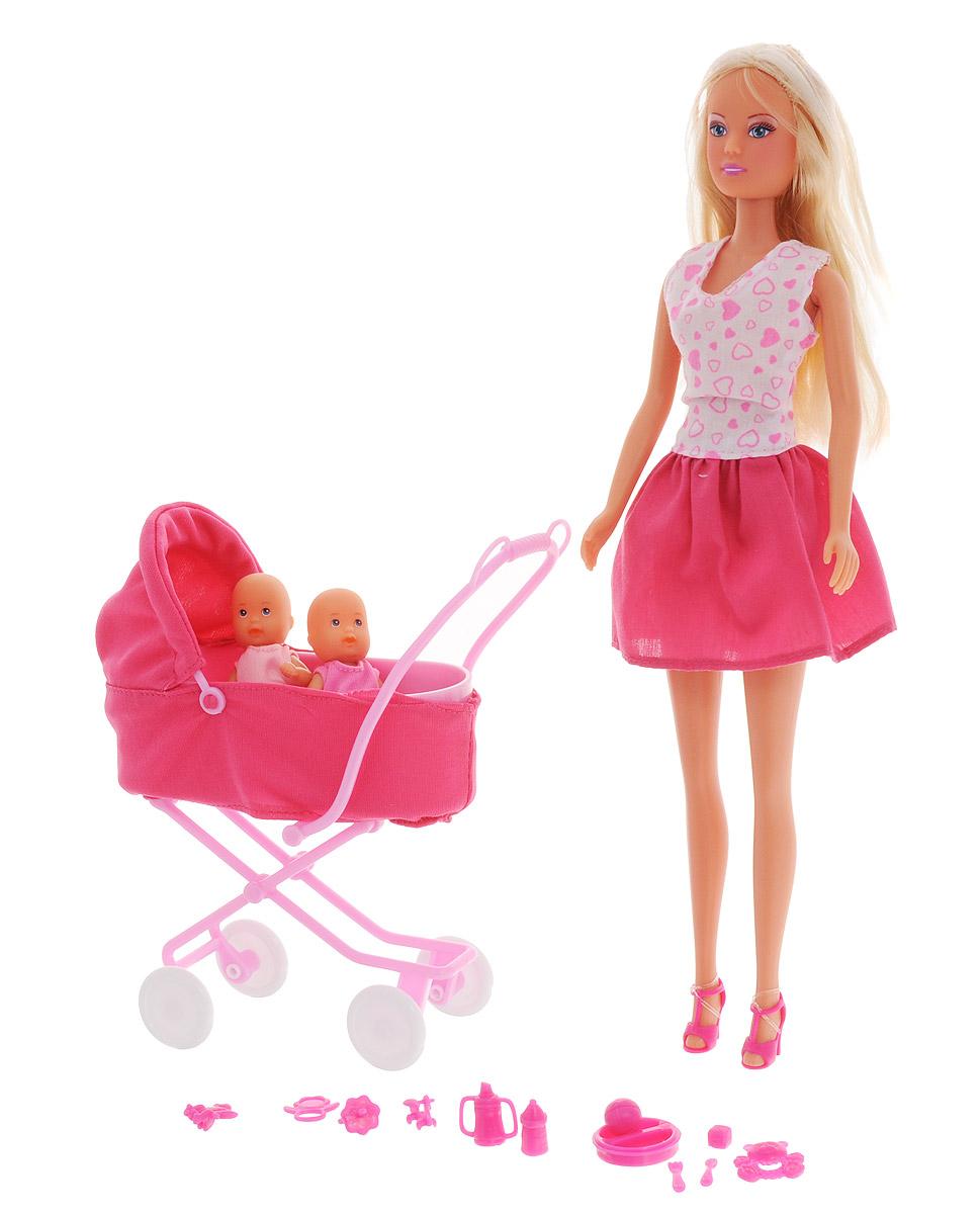 Simba Игровой набор с куклой Штеффи с коляской simba кукла штеффи pop art цвет одежды розовый желтый