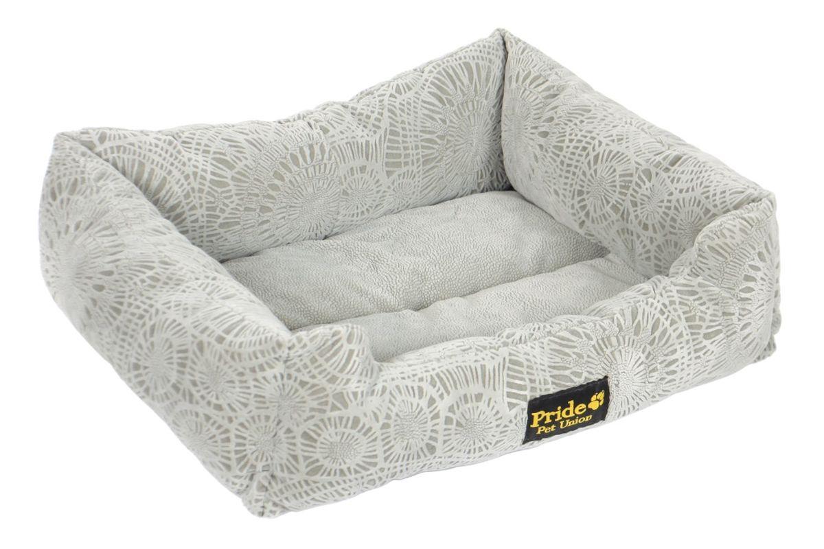 Лежак для животных Pride  Фортуна , цвет: серебристый, 52 х 41 х 10 см - Лежаки, домики, спальные места