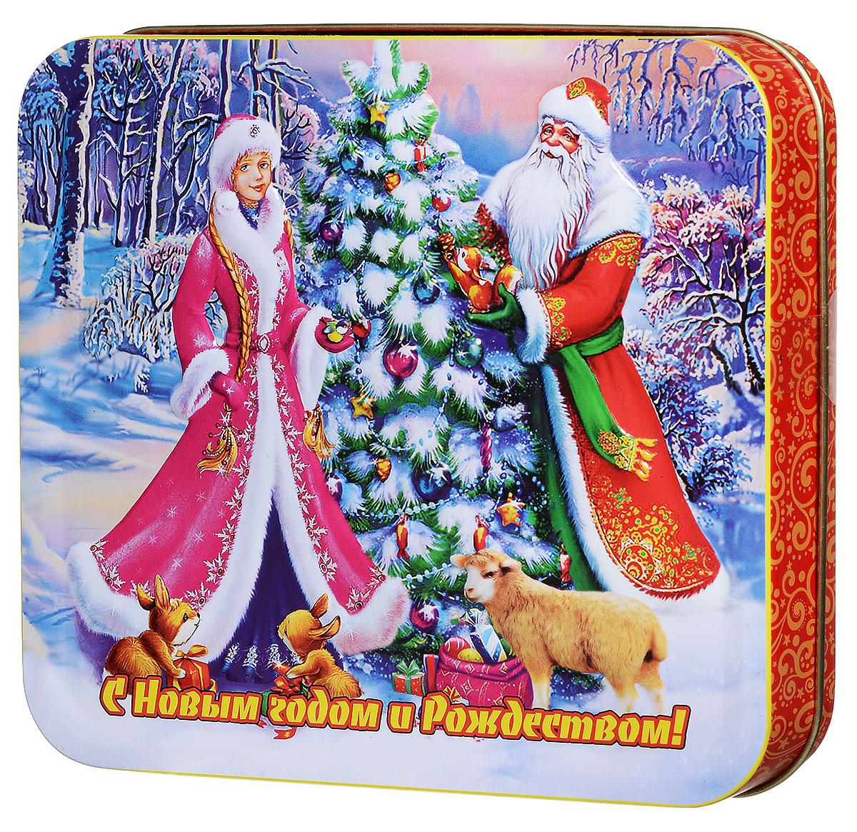Дольче Вита Дед Мороз со Снегурочкой черный листовой чай, 100 г дольче вита с рождеством христовым черный листовой чай 170 г