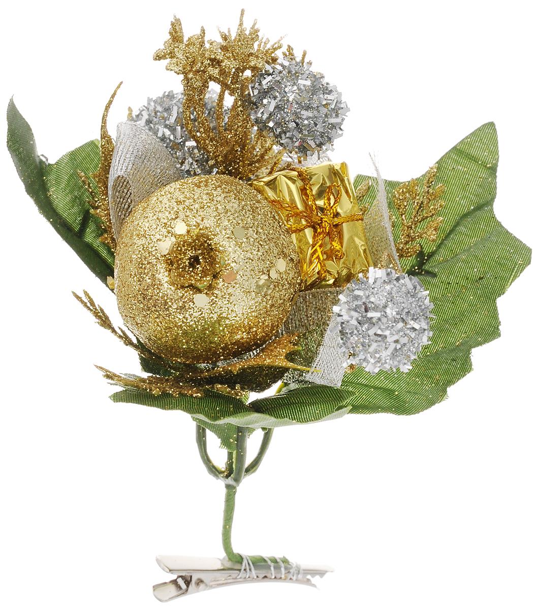 Украшение новогоднее Феникс-Презент Ягоды, на клипсе, 15 x 15 см42506Новогоднее украшение Феникс-Презент Ягоды выполнено из поливинилхлорида в форме веточки с ягодами. Изделие крепится с помощью клипсы. Украшение можно прикрепить в любом понравившемся вам месте. Но, конечно, удачнее всего оно будет смотреться на праздничной елке.Елочная игрушка - символ Нового года. Она несет в себе волшебство и красоту праздника. Создайте в своем доме атмосферу веселья и радости, украшая новогоднюю елку нарядными игрушками, которые будут из года в год накапливать теплоту воспоминаний.Материал: поливинилхлорид.Размеры: 15 х 15 см.