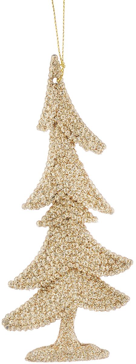 Украшение новогоднее подвесное Magic Time Золотая елочка, 15 х 6,5 см38695/75062Новогоднее подвесное украшение Magic Time Золотая елочка выполнено из полипропилена в форме ели и украшено блестками. С помощью петельки украшение можно повесить в любом понравившемся вам месте. Но, конечно, удачнее всего оно будет смотреться на праздничной елке.Елочная игрушка - символ Нового года. Она несет в себе волшебство и красоту праздника. Создайте в своем доме атмосферу веселья и радости, украшая новогоднюю елку нарядными игрушками, которые будут из года в год накапливать теплоту воспоминаний.Материал: полипропилен.Размеры: 15 х 6,5 см.