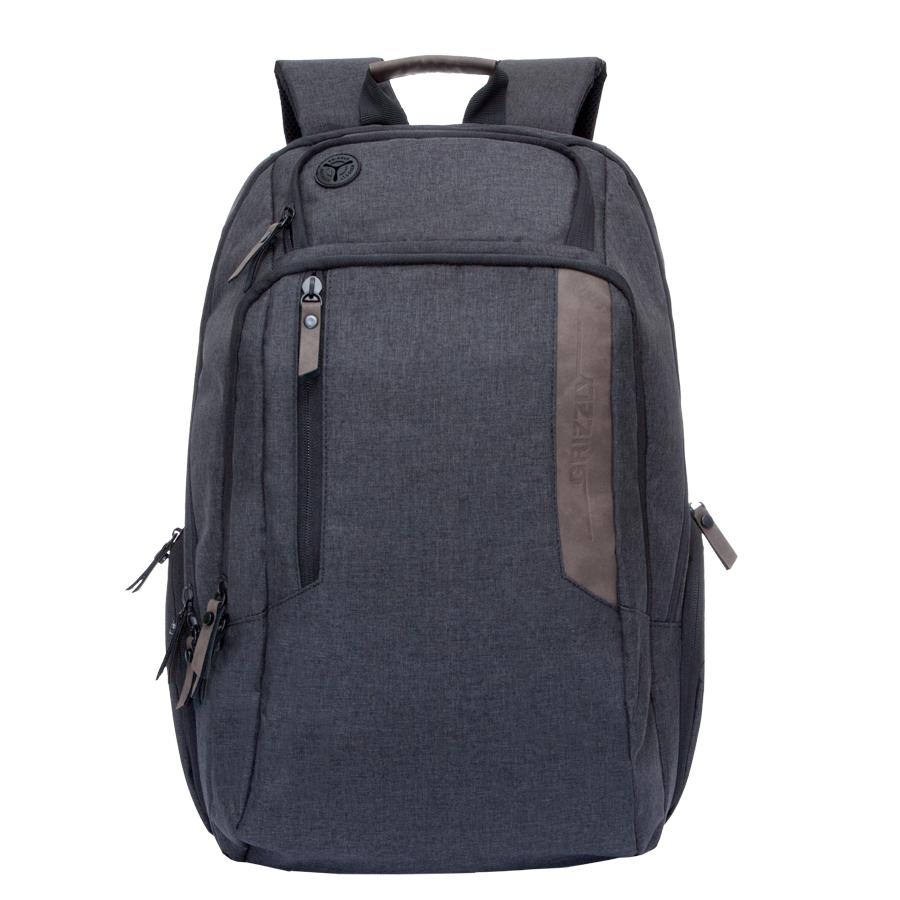 Рюкзак городской мужской Grizzly, цвет: черный-коричневый. 32 л. RU-700-6/2RU-700-6/2Рюкзак городской Grizzl выполнен из высококачественного полиэстера. Рюкзак имеет ручку-петлю для подвешивания и две укрепленные лямки, длина которых регулируется с помощью пряжек. Модель имеет два основных отделения, которые дополнены стандартным карманом на молнии, пеналом-органайзером, укрепленным карманом для ноутбука и карман для аудиоплеера. Передняя сторона оснащена втачным карманом на молнии. Боковые стенки дополнены объемными карманами на молнии. Тыльная сторона рюкзака имеет укрепленную спинку и нагрудную стяжку-фиксатор.