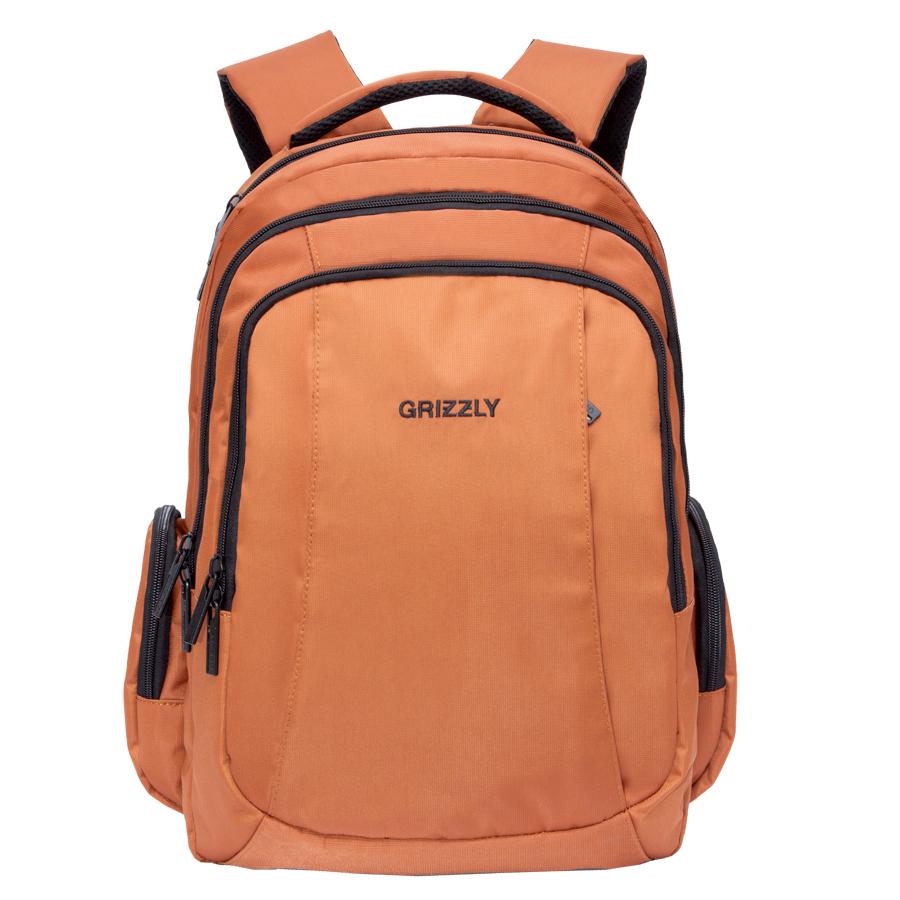 Рюкзак городской Grizzly, цвет: коричневый. 32 л. RU-700-2/3RU-700-2/3Рюкзак городской Grizzl выполнен из высококачественного нейлона.Рюкзак имеет петлю для подвешивания и две удобные лямки, длина которых регулируется с помощью пряжек. Изделие имеет три основных отделения, которые дополнены внутренним карманом на молнии, составным пеналом-органайзером и укрепленным карманом для ноутбука. Передняя стенка имеет втачной карман на застежке-молнии. Рюкзак оснащен двумя объемными боковыми карманами на молнии. Спинка дополнена анатомической укрепленной вставкой и стяжками-фиксаторами.