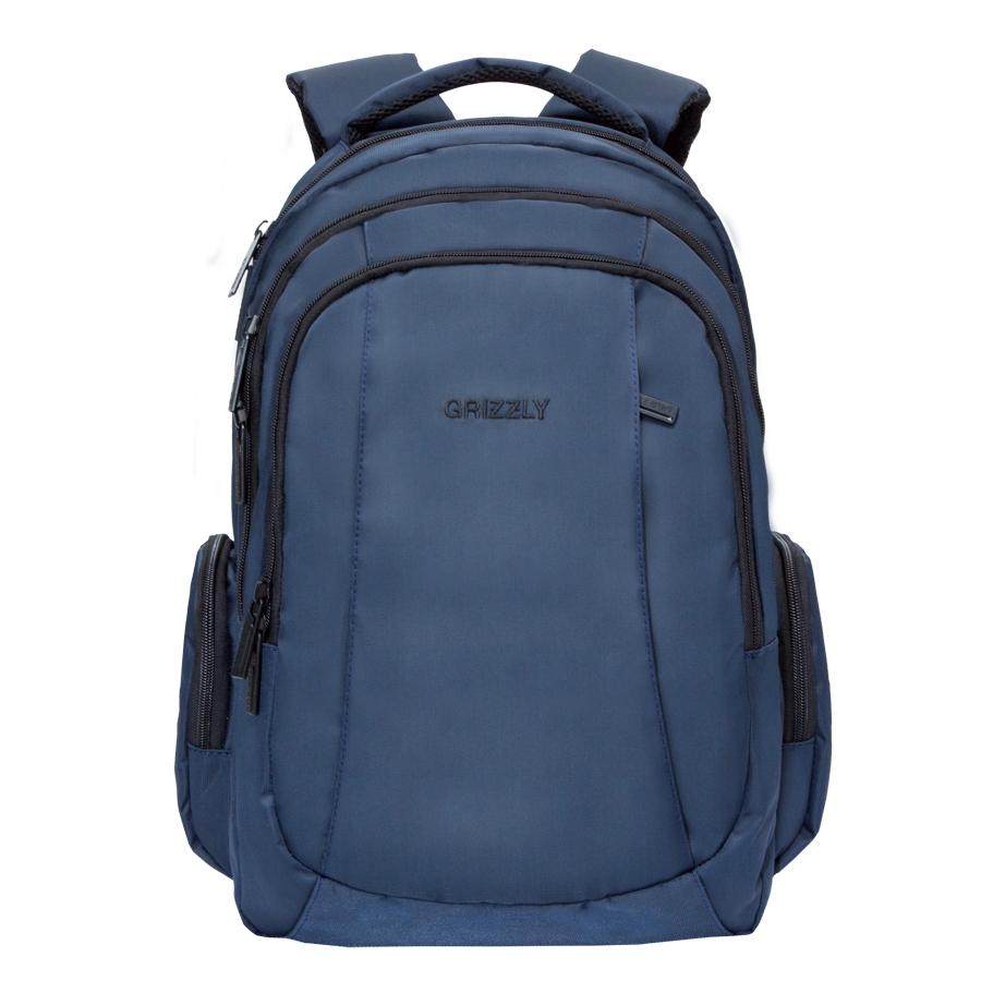 Рюкзак городской Grizzly, цвет: темно-синий. 32 л. RU-700-2/2RU-700-2/2Рюкзак городской Grizzl выполнен из высококачественного нейлона. Рюкзак имеет ручку-петлю для подвешивания и две укрепленные лямки, длина которых регулируется с помощью пряжек. Модель имеет три основных отделения, которые дополнены стандартным карманом на молнии, пеналом-органайзером и укрепленным карманом для ноутбука. Передняя сторона оснащена втачным карманом на молнии. Боковые стенки дополнены объемными карманами на молнии. Тыльная сторона рюкзака имеет анатомическую спинку и нагрудную стяжку-фиксатор.