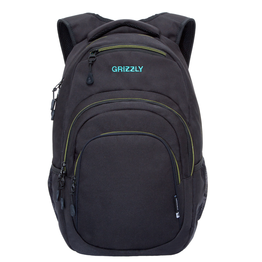 Рюкзак городской мужской Grizzly, цвет: черный, желтый. 32 л. RU-700-1/2 рюкзак городской мужской grizzly цвет красный ru 715 2 3