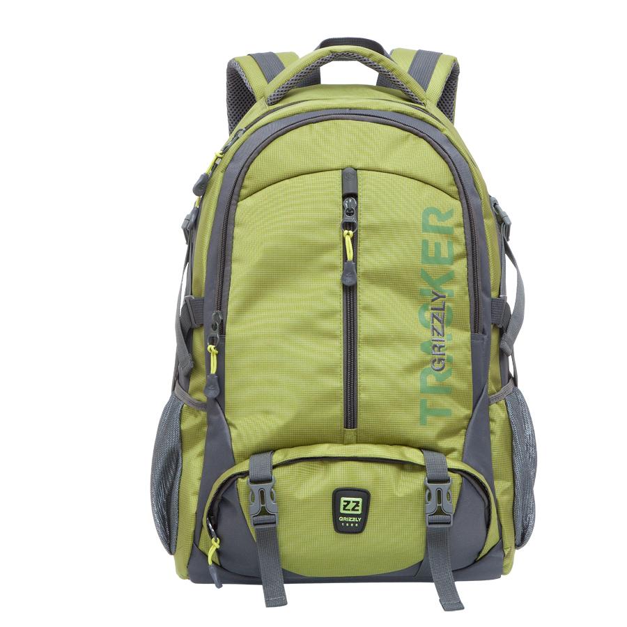 Рюкзак молодежный Grizzly, цвет: салатовый. 32 лRU-617-2/1Рюкзак Grizzly выполнен из высококачественного полиэстера. Изделие имеет два отделения, карман на молнии на передней стенке, объемный карман на молнии на передней стенке, боковые карманы из сетки, боковые стяжки-фиксаторы, жесткую анатомическую спинку, дополнительную ручку-петлю, мягкую укрепленную ручку, нагрудную стяжку-фиксатор и укрепленные лямки.Внутри расположен карман для ноутбука.