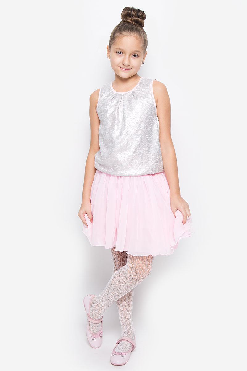 Майка для девочки Button Blue, цвет: розовый. 216BBGP12021200. Размер 98, 3 года