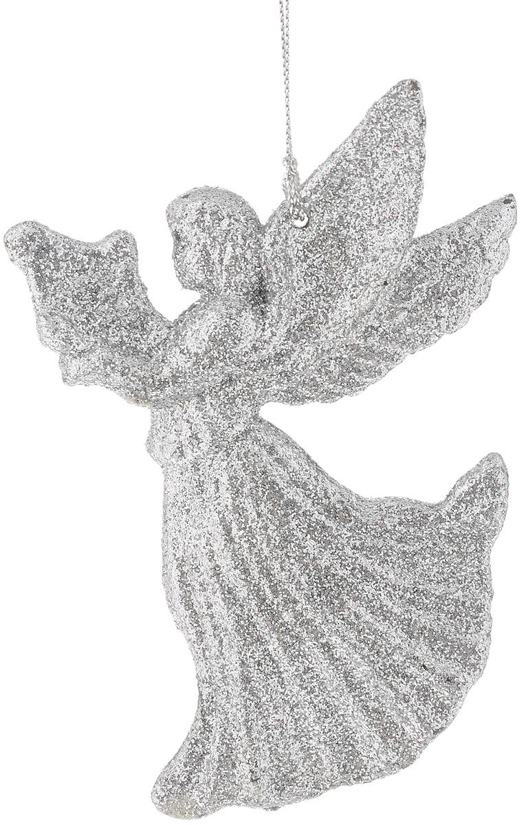 Украшение новогоднее подвесное Magic Time Серебряный ангелочек, 11 х 8 см42096/75073Новогоднее подвесное украшение Magic Time Серебряный ангелочек выполнено из полипропилена в форме ангела и украшено блестками. С помощью петельки украшение можно повесить в любом понравившемся вам месте. Но, конечно, удачнее всего оно будет смотреться на праздничной елке.Елочная игрушка - символ Нового года. Она несет в себе волшебство и красоту праздника. Создайте в своем доме атмосферу веселья и радости, украшая новогоднюю елку нарядными игрушками, которые будут из года в год накапливать теплоту воспоминаний.Материал: полипропилен.Размер: 11 х 8 см