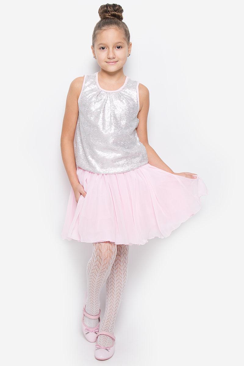 Юбка для девочки Button Blue, цвет: розовый. 216BBGP61011200. Размер 98, 3 года