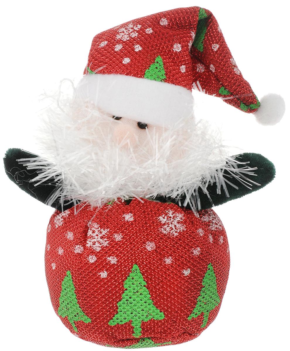 """Новогоднее подвесное украшение Феникс-Презент """"Дед мороз узорный"""" выполнено из полиэстера в виде мягкой фигурки Деда Мороза. С помощью специальной петельки украшение можно повесить в любом понравившемся вам месте. Но, конечно, удачнее всего оно будет смотреться на праздничной елке.  Елочная игрушка - символ Нового года. Она несет в себе волшебство и красоту праздника. Создайте в своем доме атмосферу веселья и радости, украшая  новогоднюю елку нарядными игрушками, которые будут из года в год накапливать теплоту воспоминаний.  Материал: полиэстер. Размеры: 26 х 8 см."""