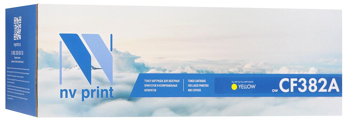 NV Print CF382AY, Yellow тонер-картридж для HP Color LaserJet Pro MFP M476NV-CF382AYСовместимый лазерный картридж NV Print CF382AY для печатающих устройств HP Color LaserJet Pro - это альтернатива приобретению оригинальных расходных материалов. При этом качество печати остается высоким. Картридж обеспечивает повышенную четкость изображения и плавность переходов оттенков и полутонов, позволяют отображать мельчайшие детали изображения.Лазерные принтеры, копировальные аппараты и МФУ являются более выгодными в печати, чем струйные устройства, так как лазерных картриджей хватает на значительно большее количество отпечатков, чем обычных. Для печати в данном случае используются не чернила, а тонер.