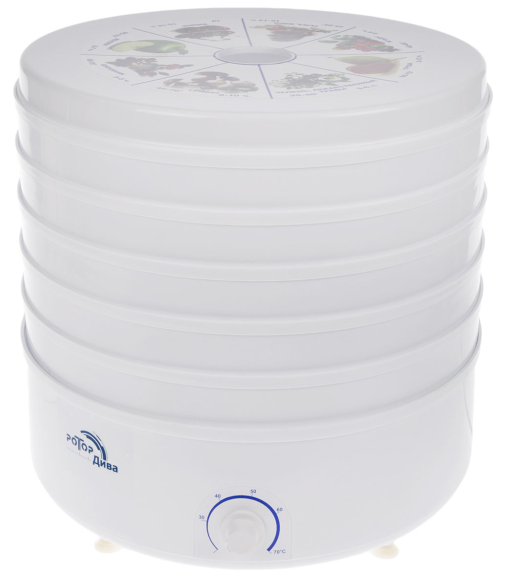 Дива СШ 007 (007-04), White сушилка для овощей - Техника для хранения, консервации и заготовок