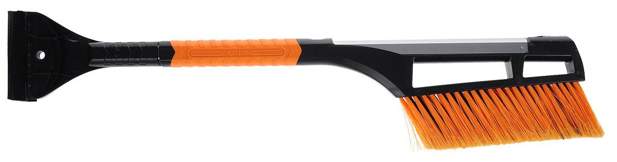 Щетка для очистки от снега Koto, телескопическая, цвет: оранжевый, черный, стальной, 65-90 см. BWN-109BWN-109_оранжевыйЩетка для чистки снега Koto имеет легкую алюминиевую конструкцию. Она оснащена телескопической рукояткой, которая позволяет увеличивать длину. Щетина изготовлена из искусственного материала средней жесткости. С обратной стороны ручки расположен скребок из прочного пластика.Длина щетки: 65-90 см.Длина рабочей части: 21 см.