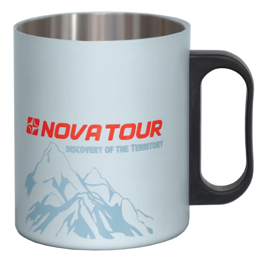 Термокружка NOVA TOUR, цвет: серый, черный, 0,35 л термокружка nova tour драйвер 360 360ml