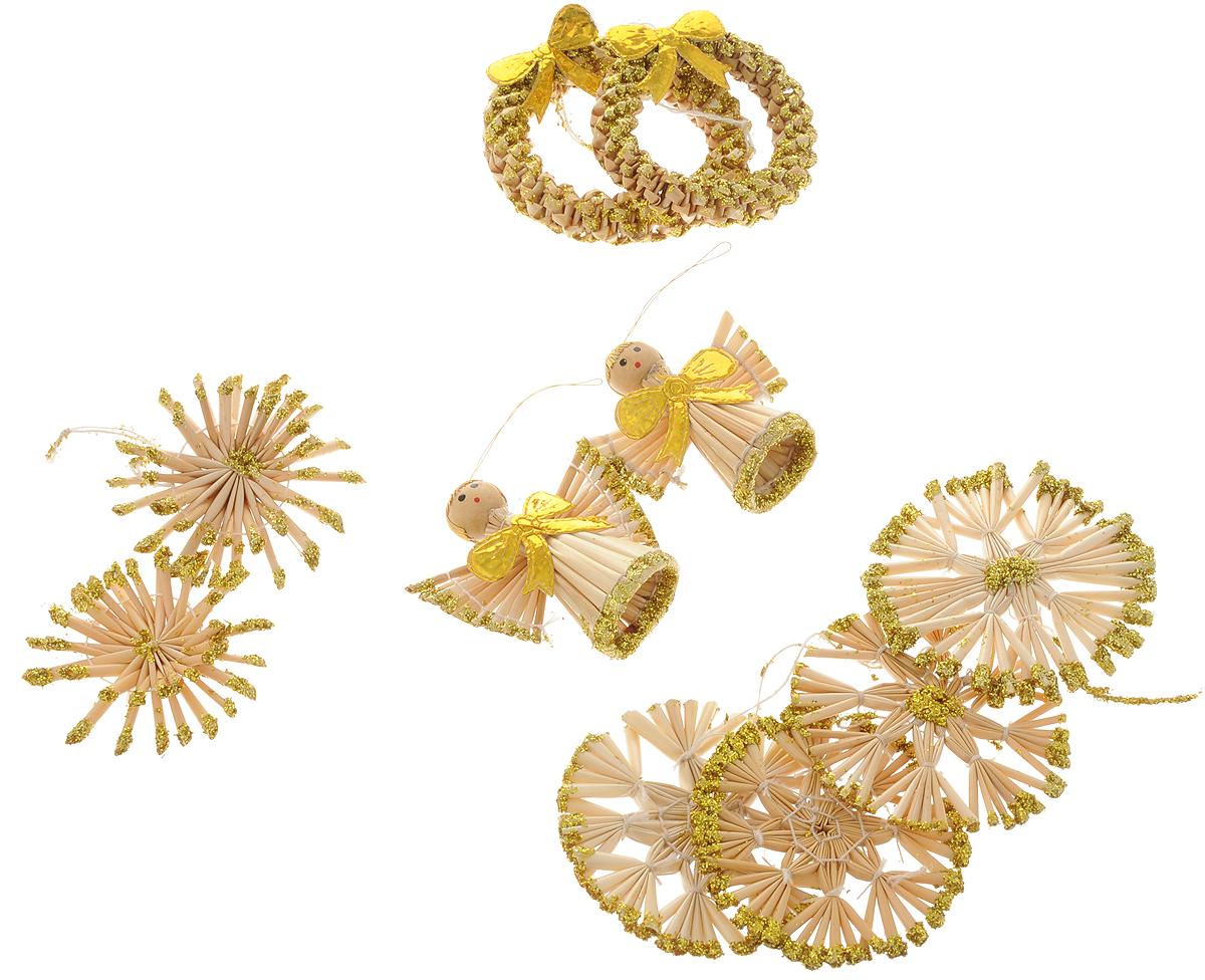 Набор новогодних подвесных украшений Magic Time Золотые ангелы, 8 шт набор новогодних подвесных украшений magic time розовые кеды 4 х 1 х 2 см 4 шт