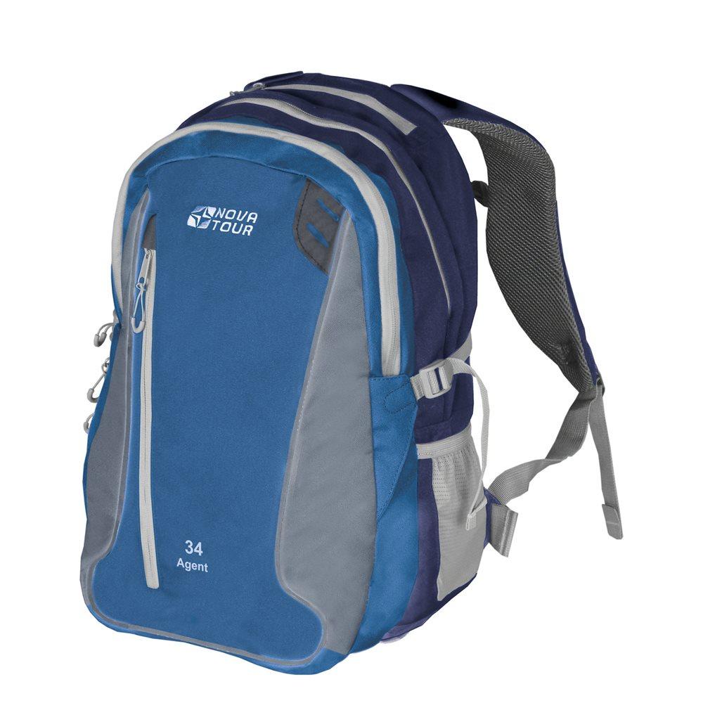 Рюкзак городской Nova Tour Агент, цвет: синий, 34 л рюкзак городской nova tour вижн цвет черный серый 20 л