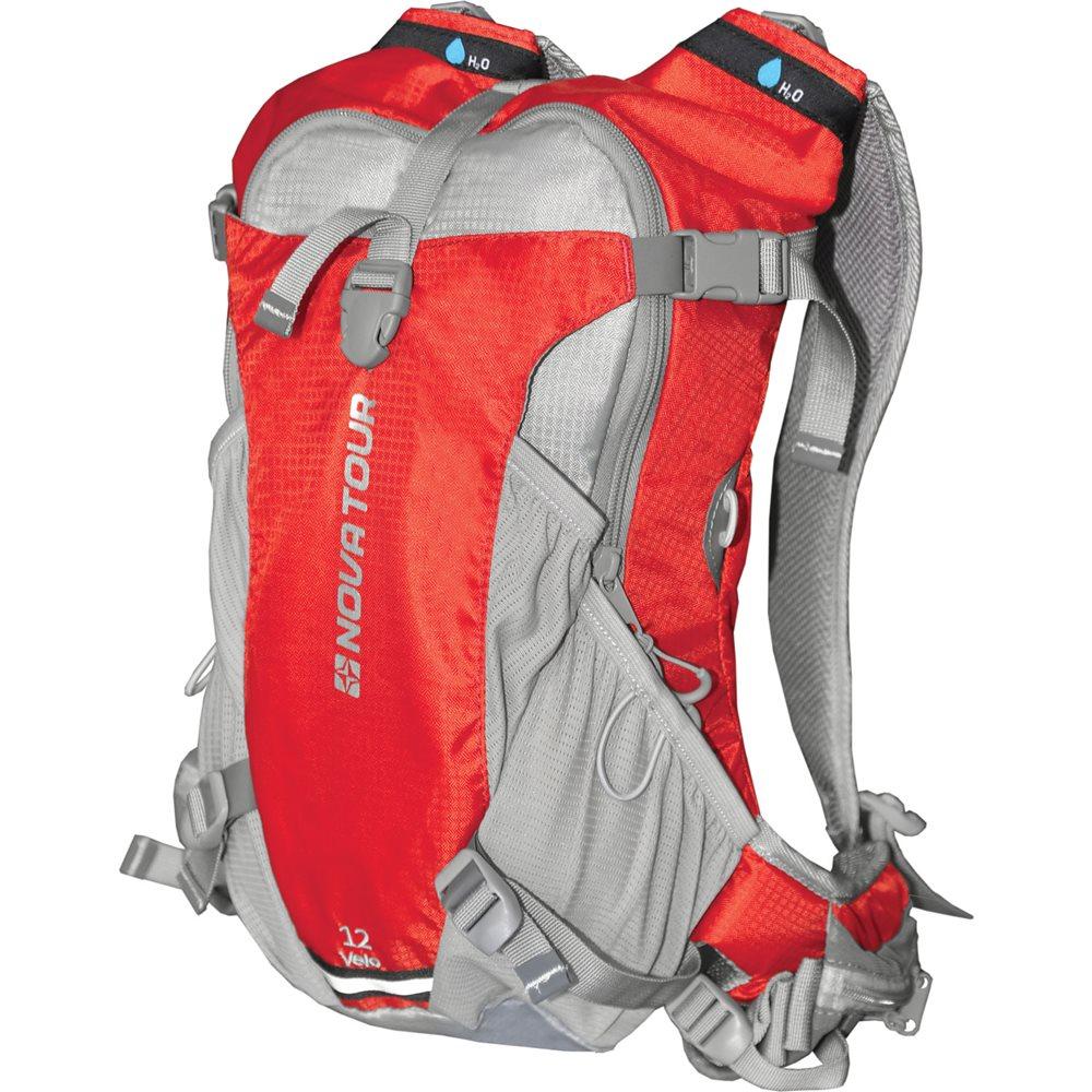 Рюкзак городской Nova Tour Вело, цвет: красный, серый, 12 л рюкзак городской nova tour вижн цвет черный серый 20 л