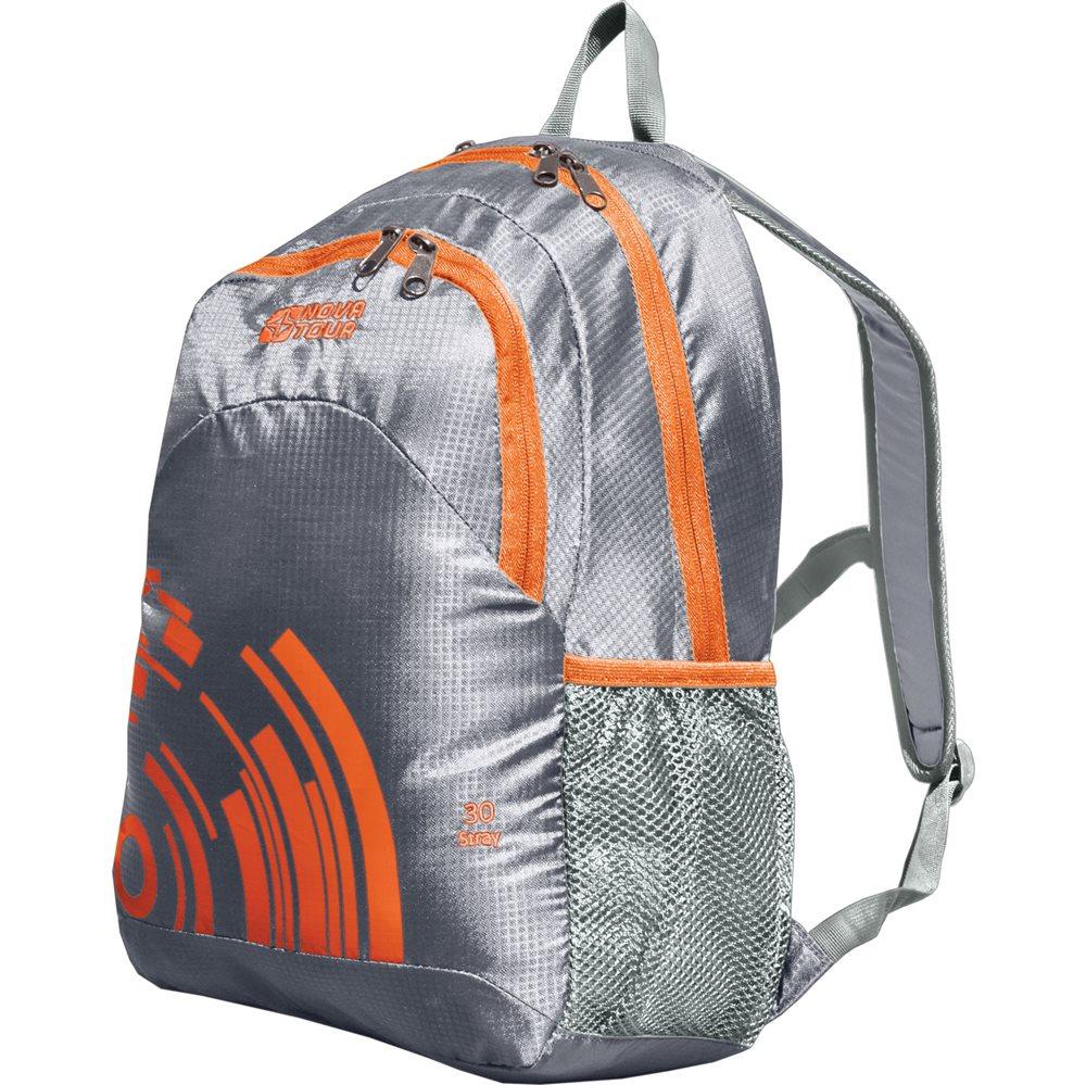 Рюкзак городской Nova Tour Стрэй, цвет: серый, оранжевый, 30 л13412-471-00Рюкзак городской Nova Tour Стрэй - облегченный городской рюкзак с органайзером, карабином для ключей и боковыми карманами из сетки.