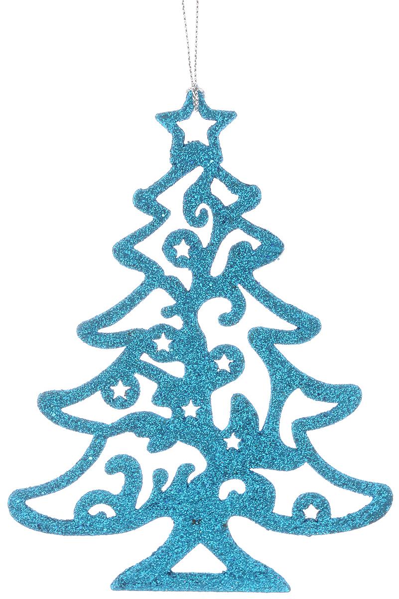 Украшение новогоднее подвесное Magic Time Голубая елочка, 16 х 12 см38698Новогоднее украшение Magic Time Голубая елочка отлично подойдет для декорации вашего дома и новогодней ели. Изделие, выполненное из пластика, декорировано блестками и оснащено специальной петелькой для подвешивания.Елочная игрушка - символ Нового года. Она несет в себе волшебство и красоту праздника. Создайте в своем доме атмосферу веселья и радости, украшая всей семьей новогоднюю елку нарядными игрушками, которые будут из года в год накапливать теплоту воспоминаний.