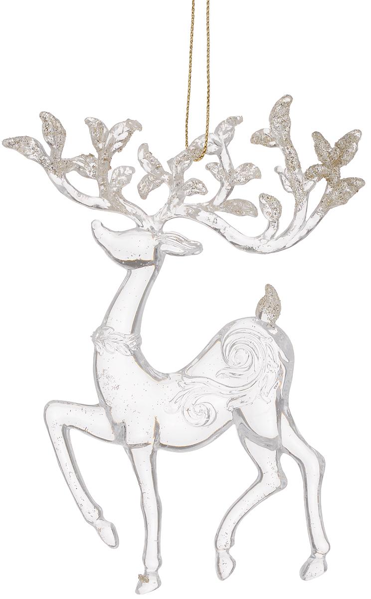 Украшение новогоднее подвесное Magic Time Сказочный олень, высота 15,6 см38585Новогоднее украшение Magic Time Сказочный олень отлично подойдет для декорации вашего дома и новогодней ели. Изделие выполнено из полистирола и оснащено специальной петелькой для подвешивания.Елочная игрушка - символ Нового года. Она несет в себе волшебство и красоту праздника. Создайте в своем доме атмосферу веселья и радости, украшая всей семьей новогоднюю елку нарядными игрушками, которые будут из года в год накапливать теплоту воспоминаний.Размер фигурки: 9,5 х 2 х 15,6 см.