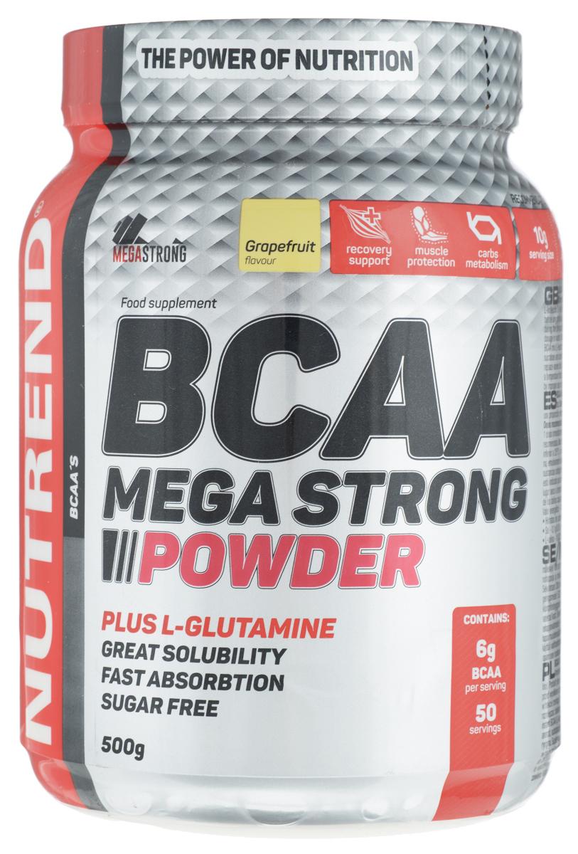 Комплекс аминокислотный Nutrend BCAA Mega Strong Powder, грейпфрут, 500 г