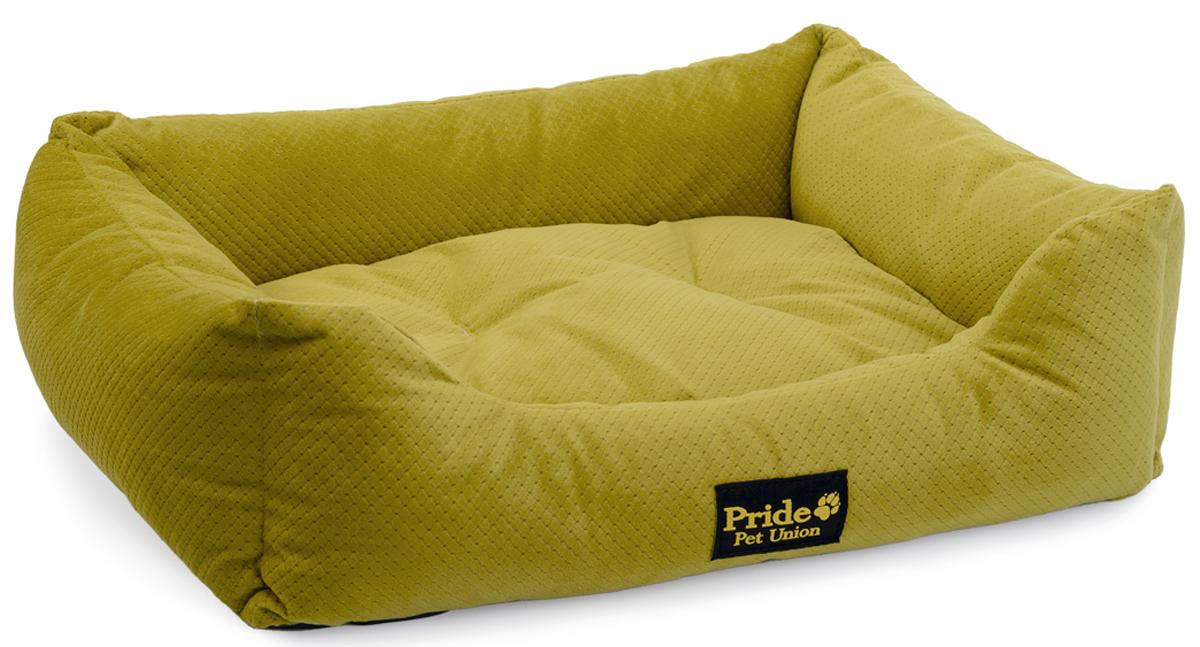 Лежак для животных Pride Престиж, цвет: зеленый, 90 х 80 х 25 см