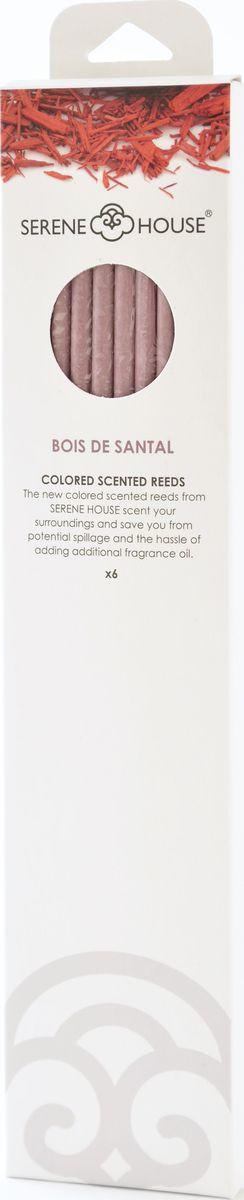 Палочки ароматические Serene House Белый сандал, 6 шт152505021Ароматические палочки Serene House Белый сандал изготовлены из спрессованной бумаги с использованием ароматических масел. Они имеютплотный восточный аромат сандала с оттенками розы, кедра и мускуса.Палочкиработают по принципу сухого ароматизатора воздуха в помещении - их не нужно поджигать или помещать в ароматическую жидкость.Просто поставьте палочки в небольшую декоративную вазочку или другую емкость. Интенсивность аромата можно регулировать, изменяяколичество используемых одновременно палочек.Один комплект ароматизирует помещение площадью 15-18 кв.м. не менее 30 дней. Количество палочек в упаковке: 6 шт.