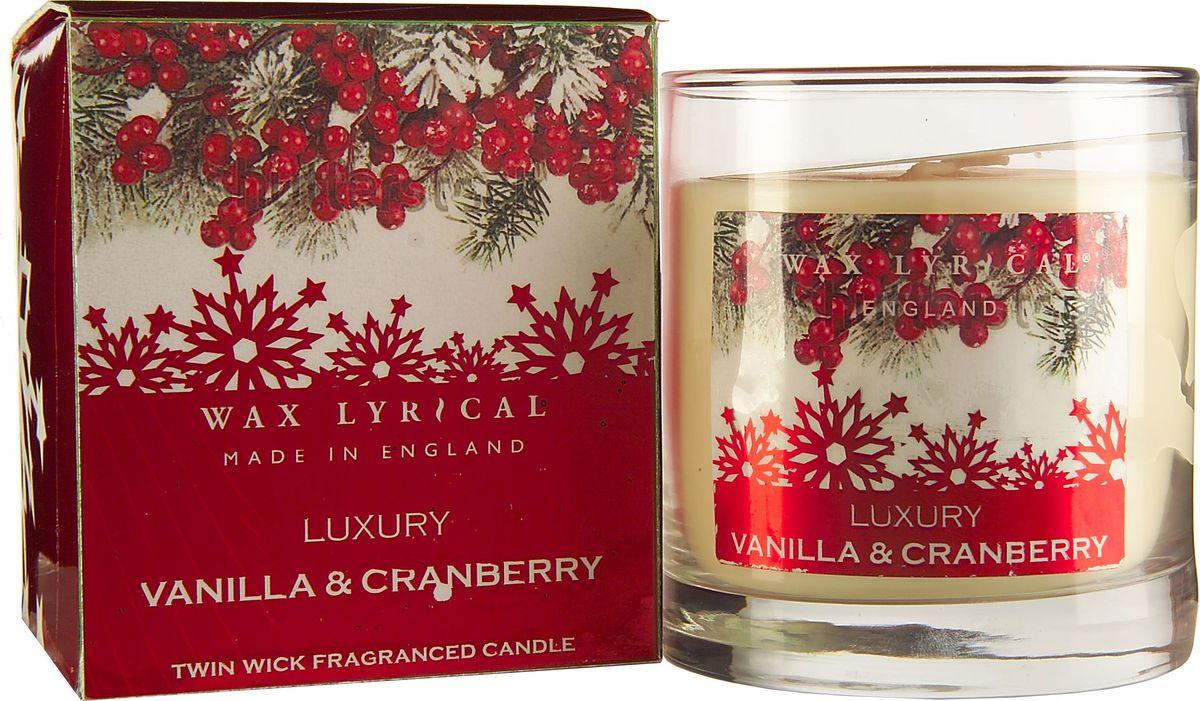 Свеча ароматизированная Wax Lyrical Клюква в сахарной пудре, 1105 гAIS049Свеча ароматизированная Wax Lyrical Клюква в сахарной пудре имеет утончённый кисло-сладкий зимний ягодный аромат, с ярко выраженным ванильным акцентом.