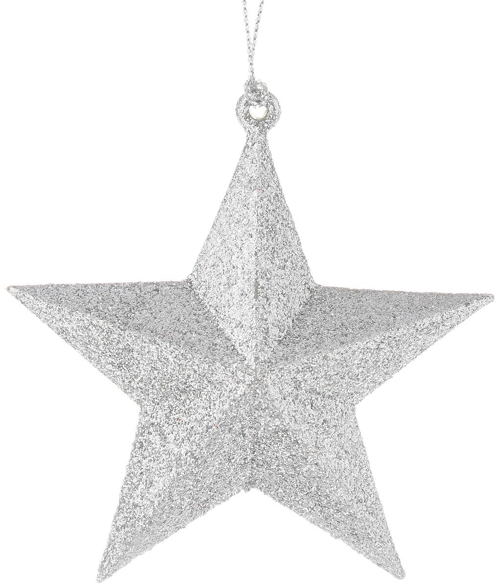 Украшение новогоднее подвесное Magic Time Звезда, цвет: серебристый, 9 х 9 см38733/75108Подвесное украшение Magic Time Звезда, выполненное из полипропилена, прекрасно подойдет для праздничного декора вашей ели. С помощью специальной петельки его можно повесить в любом понравившемся вам месте. Но, конечно, удачнее всего такая игрушка будет смотреться на праздничной елке. Елочная игрушка - символ Нового года и Рождества. Она несет в себе волшебство и красоту праздника. Создайте в своем доме атмосферу веселья и радости, украшая новогоднюю елку нарядными игрушками, которые будут из года в год накапливать теплоту воспоминаний.Размер украшения: 9 х 9 см.