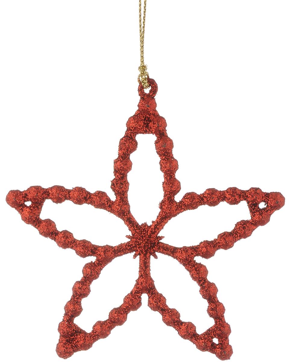Украшение новогоднее подвесное Magic Time Звездочка, 10 х 9,5 см34985Новогоднее украшение Magic Time Звездочка отлично подойдет для декорации вашего дома и новогодней ели. Изделие выполнено из пластика и оснащено специальной петелькой для подвешивания.Елочная игрушка - символ Нового года. Она несет в себе волшебство и красоту праздника. Создайте в своем доме атмосферу веселья и радости, украшая всей семьей новогоднюю елку нарядными игрушками, которые будут из года в год накапливать теплоту воспоминаний.Размер фигурки: 10 х 9,5 см.