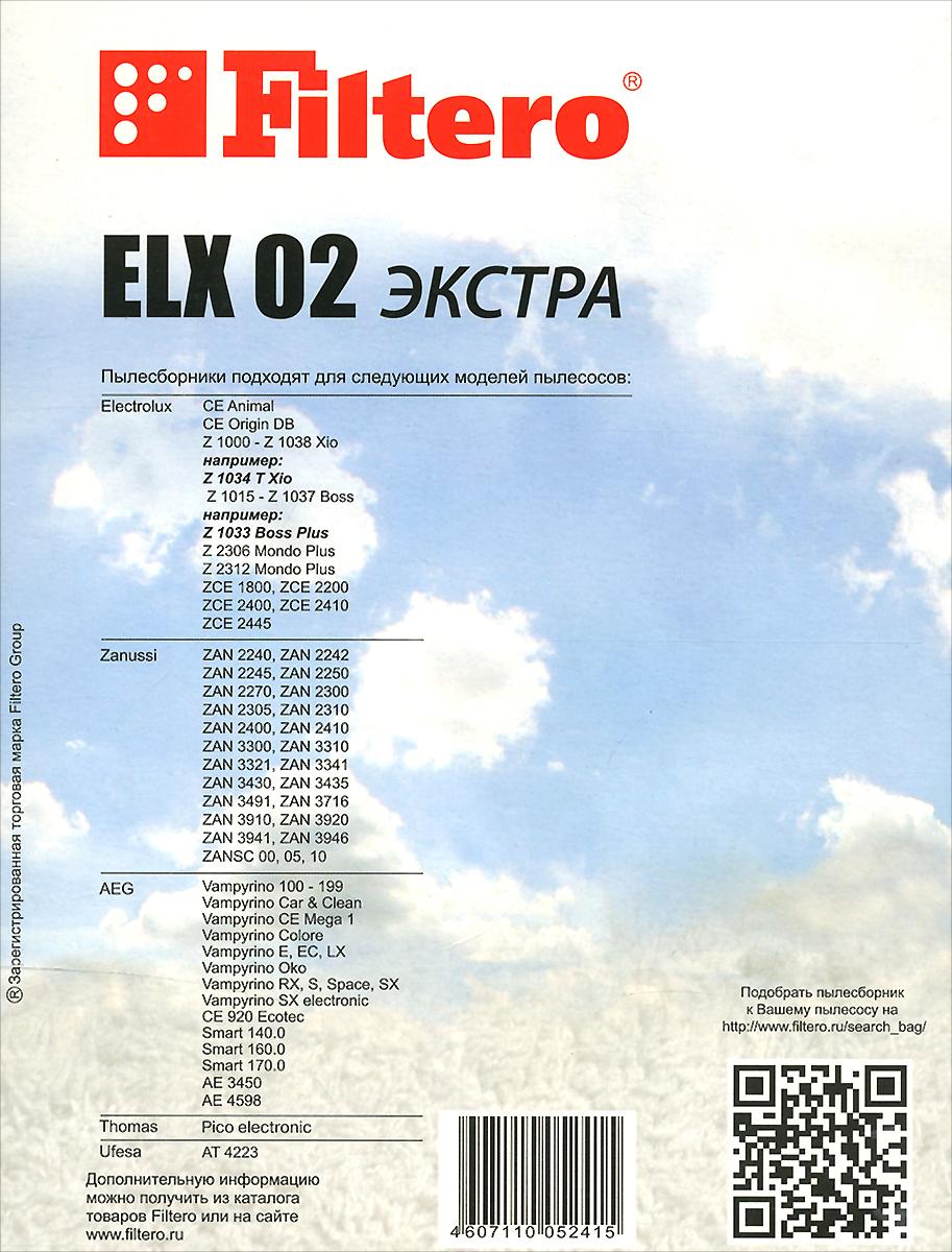 Filtero ELX 02Экстра мешок-пылесборник 4 шт Filtero