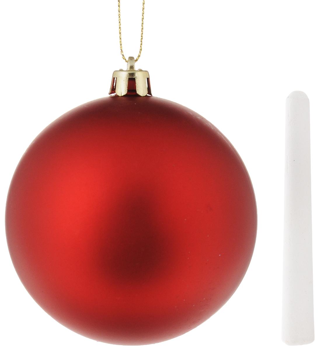 Украшение новогоднее подвесное Magic Time Шар, с мелком, диаметр 8 см38213Новогоднее подвесное украшение Magic Time Шар выполнено из полистирола в форме шара. С помощью специальной петельки украшение можно повесить в любом понравившемся вам месте. Но, конечно, удачнее всего оно будет смотреться на праздничной елке. К изделию прилагается специальный мелок для записей. Елочная игрушка - символ Нового года. Она несет в себе волшебство и красоту праздника. Создайте в своем доме атмосферу веселья и радости, украшая новогоднюю елку нарядными игрушками, которые будут из года в год накапливать теплоту воспоминаний.