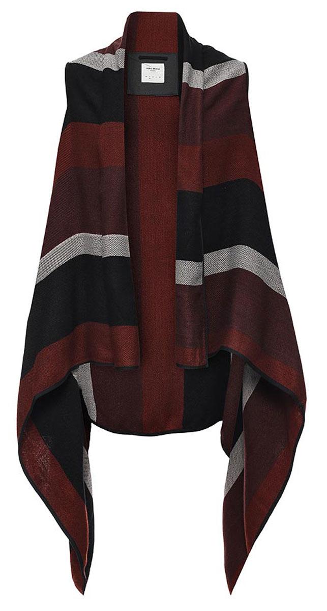 Кардиган женский Vero Moda, цвет: бордовый, черный, серый. 10157237. Размер S (42) кардиган женский vero moda цвет черный светло серый 10166453 размер s 42