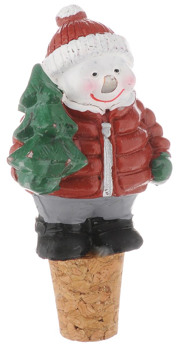 Пробка для бутылки новогодняя Magic Time  Снеговик , 8,5 х 5 х 3 см - Сервировка праздничного стола