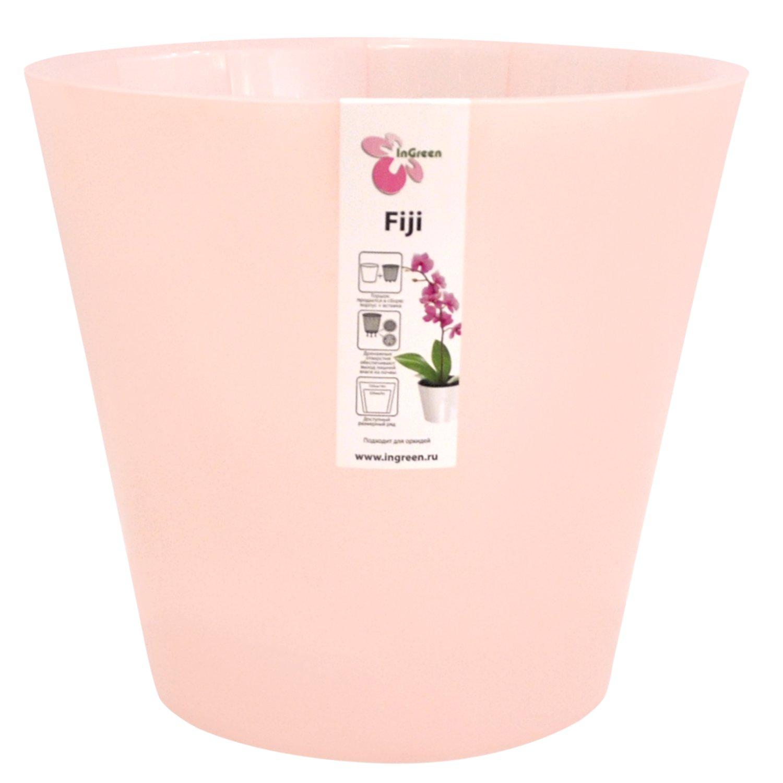 Горшок для цветов InGreen Фиджи. Орхидея, цвет: розовый, диаметр 23 смING1559РЗПЕРЛГоршок InGreen Фиджи. Орхидея, выполненный из высококачественного полипропилена (пластика), предназначен для выращивания комнатных цветов, растений и трав. Специальная конструкция обеспечивает вентиляцию в корневой системе растения. Такой горшок порадует вас современным дизайном и функциональностью, а также оригинально украсит интерьер любого помещения. Диаметр горшка (по верхнему краю): 23 см.Высота горшка: 20,8 см.Объем горшка: 5 л.