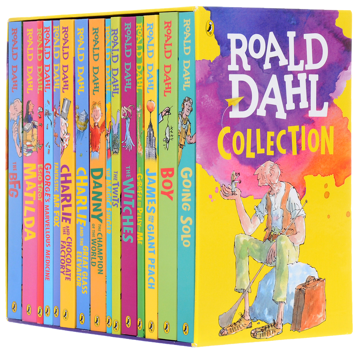 Roald Dahl Collection - 15 Paperback Book Boxed quik lok ad4 5