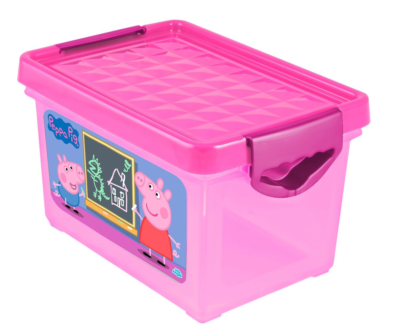 Ящик для хранения мелочей Little Angel Свинка Пеппа, детский, цвет: розовый, 5,1 лLA0052РРРЗПорядок в детской с любимыми героями – легко и весело. Теперь для игрушек, канцелярских принадлежностей и других важных мелочей всегда найдется место. Эксклюзивные декоры с любимыми героями несомненно станут украшением каждой детской. Преимущества: эксклюзивные декоры с любимыми героями; надежные крышки с привлекательной текстурой; возможность штабелирования ящиков друг на друга.
