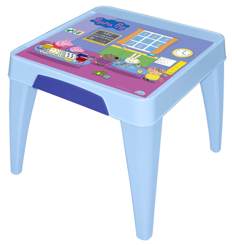 Стол детский Little Angel Свинка Пеппа. Я расту, цвет: голубой математика для малышей я считаю до 100