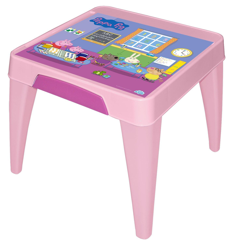 Стол детский Little Angel Свинка Пеппа. Я расту, цвет: розовыйLA4502РРРЗМебель «Я расту» – это сбывшаяся мечта! Функциональная, яркая, безопасная и очень привлекательная мебель эксклюзивного дизайна. Уникальный декор мебели включает обучающие элементы - с ними малыш легко выучит английский алфавит, цифры а также научится определять время. Преимущества: эксклюзивные декоры с любимыми героями; закругленные углы для безопасности малыша; противоскользящие накладки для безопасного использования на любой поверхности; особо прочная конструкция ножек для надежной и безопасной эксплуатации; выдерживает статическую нагрузку до 100 кг. для стола и до 180 кг. для стула и табурета.