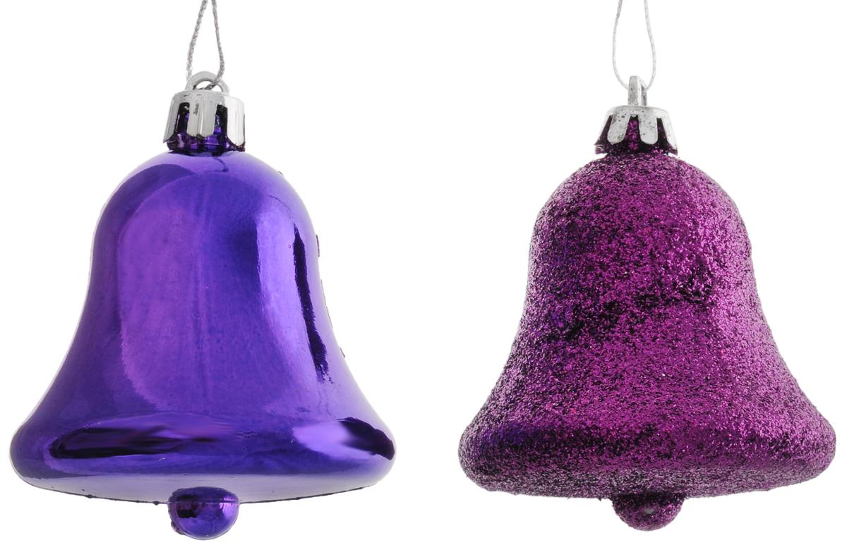 Украшение новогоднее подвесное Magic Time Фиолетовые колокольчики, высота 7 см, 2 шт39016Новогоднее украшение Magic Time Фиолетовые колокольчики отлично подойдет для декорации вашего дома и новогодней ели. Изделия, выполненные из пластика, оснащены специальными петельками для подвешивания.Елочная игрушка - символ Нового года. Она несет в себе волшебство и красоту праздника. Создайте в своем доме атмосферу веселья и радости, украшая всей семьей новогоднюю елку нарядными игрушками, которые будут из года в год накапливать теплоту воспоминаний.