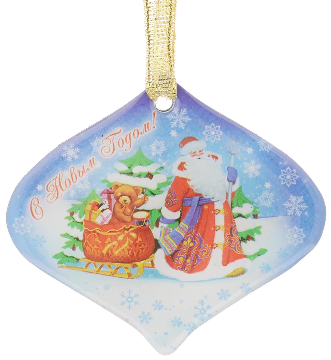 Магнит декоративный Magic Time Дед мороз с мишкой в санях, 6,6 х 6 см толстовка с мишкой худи где